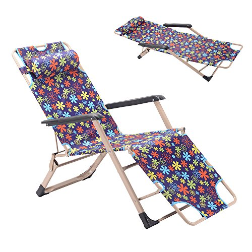 - GOJOOASIS Folding Chaise Lounge Chair Recliner Bed & Cot for a Nap or Outdoor Use (Purple)