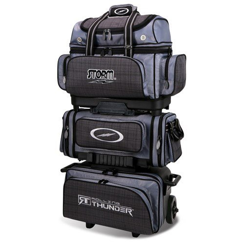 Storm 6 Ball Rolling Thunder Bowling Bag, Plaid/Gray/Black by Storm