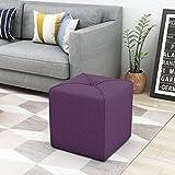 Christopher Knight Home 303840 Kenyon Purple Fabric Square Ottoman