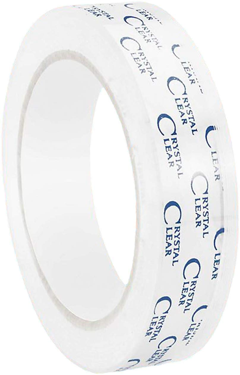 """Uline 8-3/4"""" x 2,592"""" (72 yds) Crystal Clear Transparent Tape, Fits 3"""" Core (S-3274)"""