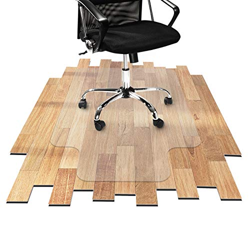 "Desk Chair Mat for Hardwood Floor - Hard Floor Protection Mat for Office & Home | Many Sizes Available | Clear - 30"" x 48"" with Lip"
