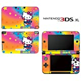 Hello Kitty Pink Hearts Rainbow Princess Girl Video Game Vinyl Decal Cover Skin Protector for Nintendo 3DS XL