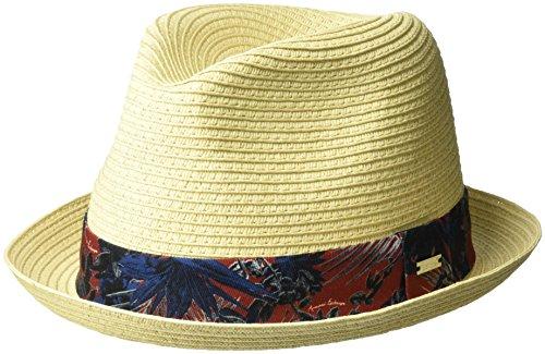 Armani Exchange Men's Tropical Palms Trim Fedora, Natural/Chocolate, TU ()