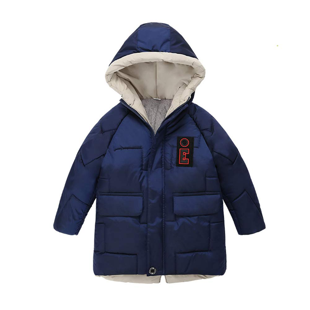 Goodkids Toddler Boys Down Jacket Winter Jacket Hooded Thickened Warm Snowsuit Coat Parka Outerwear