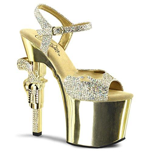 Pleaser - Sandalias de vestir para mujer dorado dorado