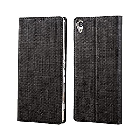 Sony Xperia XA Ultra case, Feitenn Premium Flip Leather PU wallet Case with Stand Kickstand Card Holder Magnetic Closure Slim Clear TPU Back cover for Sony Xperia XA Ultra case 6 (Cell Phones Cases Sony Xperia)