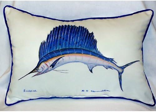 Betsy Drake HJ006 Sailfish Art Only Pillow 15 x22