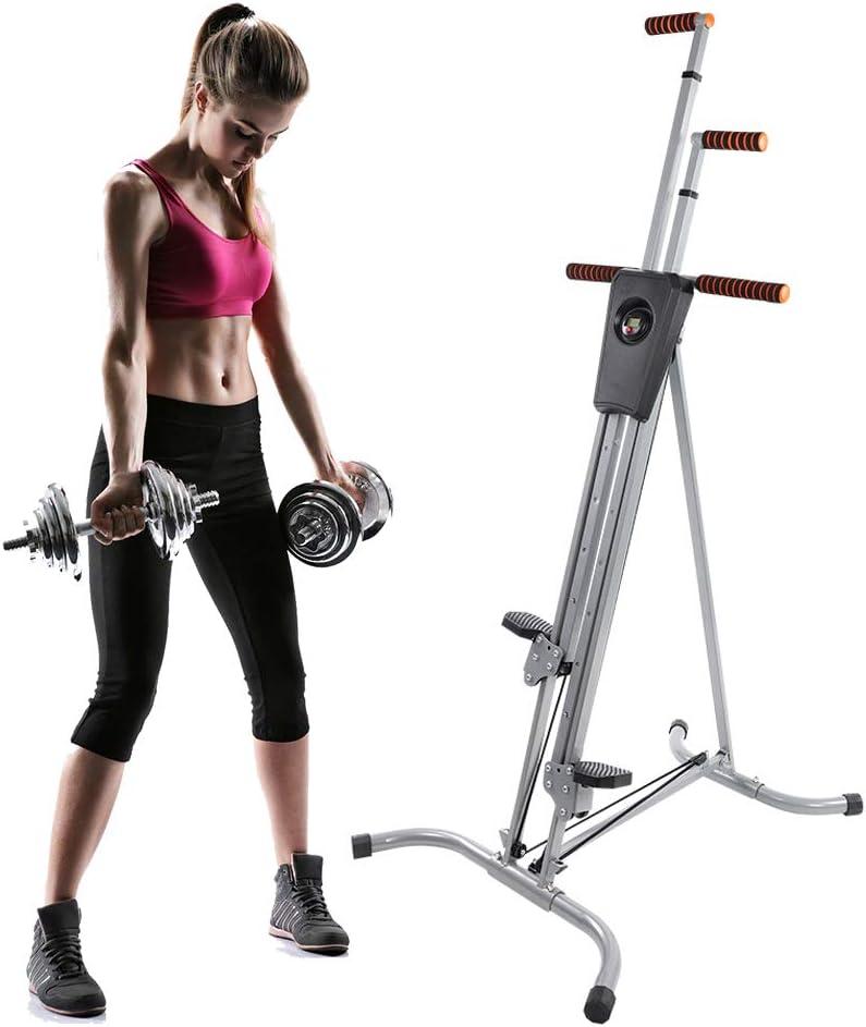 Escalera de ejercicio, resistente, altura ajustable, plegable, fitness, vertical, escalada, escalada, escalada, máquina cardio, gimnasio en casa: Amazon.es: Deportes y aire libre