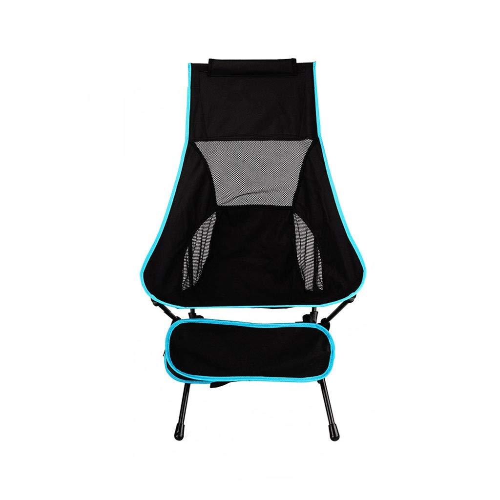 C  YYZDY12 Chaise de pêche Se Pliante Ultra légère de Loisirs de Tube en Aluminium de Tube extérieur de Plage en Aluminium de Chaise (Couleur   D)