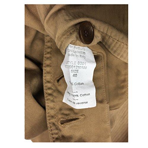 Cotone 6001 Ceccarelli Vestibilità Made In Uomo Italy Slim 100 Giacca Mod Camel Manifattura SX0xA0
