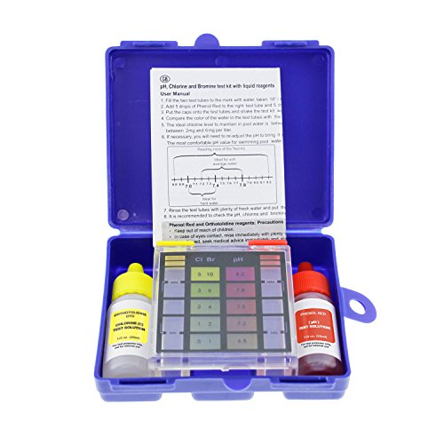 U.S. Pool Supply Standard 3-Way Swimming Pool & Spa Test Kit, Tests Water for pH, Chlorine and Bromine