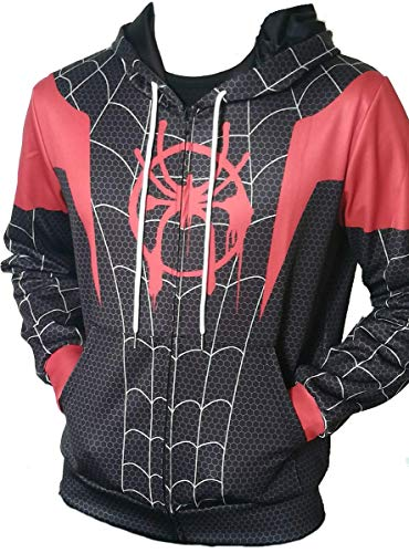 Design Moral - ComicCosplay Spider-Man Far from Home Hoodie | Premium Quality 3D Sublimation Print Design (Miles Morales, XX-Large)