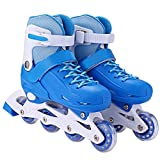 PEATAO Adjustable Inline Skates Kids Fun Rollerblades for Children Beginner Roller Skate Triple Protection Switchable Pulley