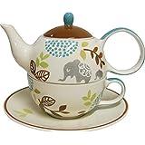 """Tea for one Set """"Ole"""" Keramik, 4-teilig Kanne: 0,4 l, Tasse: 0,2 l"""