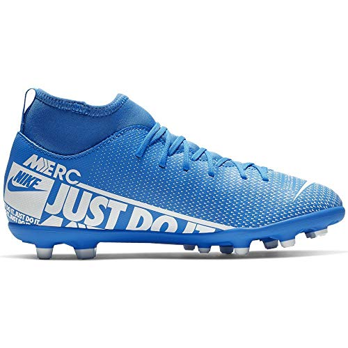 Jr. Mercurial Superfly 7 Club MG Youth Soccer Cleats- Blue/White (4Y)