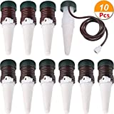 The Flash Store Automatic Slow Release Vacation Plant Waterer,Garden Cone Watering Spikes,Self Watering Syste Irrigation Watering Device for Outdoor & Indoor Use (10)