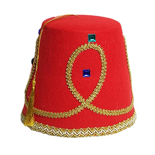 Jacobson Hat Company Men's Fez, Red, Adult]()