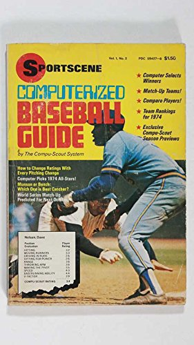 1974 COMPUTERIZED BASEBALL GUIDE BY COMP-SCOUT SYSTEM TEAM RANKINGS COVER WEAR
