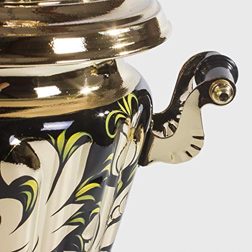 Rooster Electric Samovar Set with Tray & Teapot Russian Samovar by Tula (Image #6)
