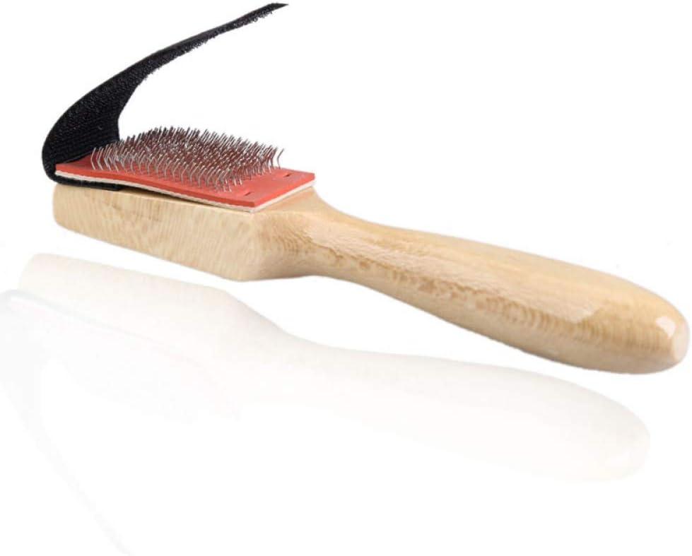 HIUGHJ Herramienta de Limpieza Hombres Mujeres Madera Gamuza Suela de Alambre Zapato Pincel Limpiadores Baile Zapatos Cepillos de Limpieza Cepillo para Calzado, 5