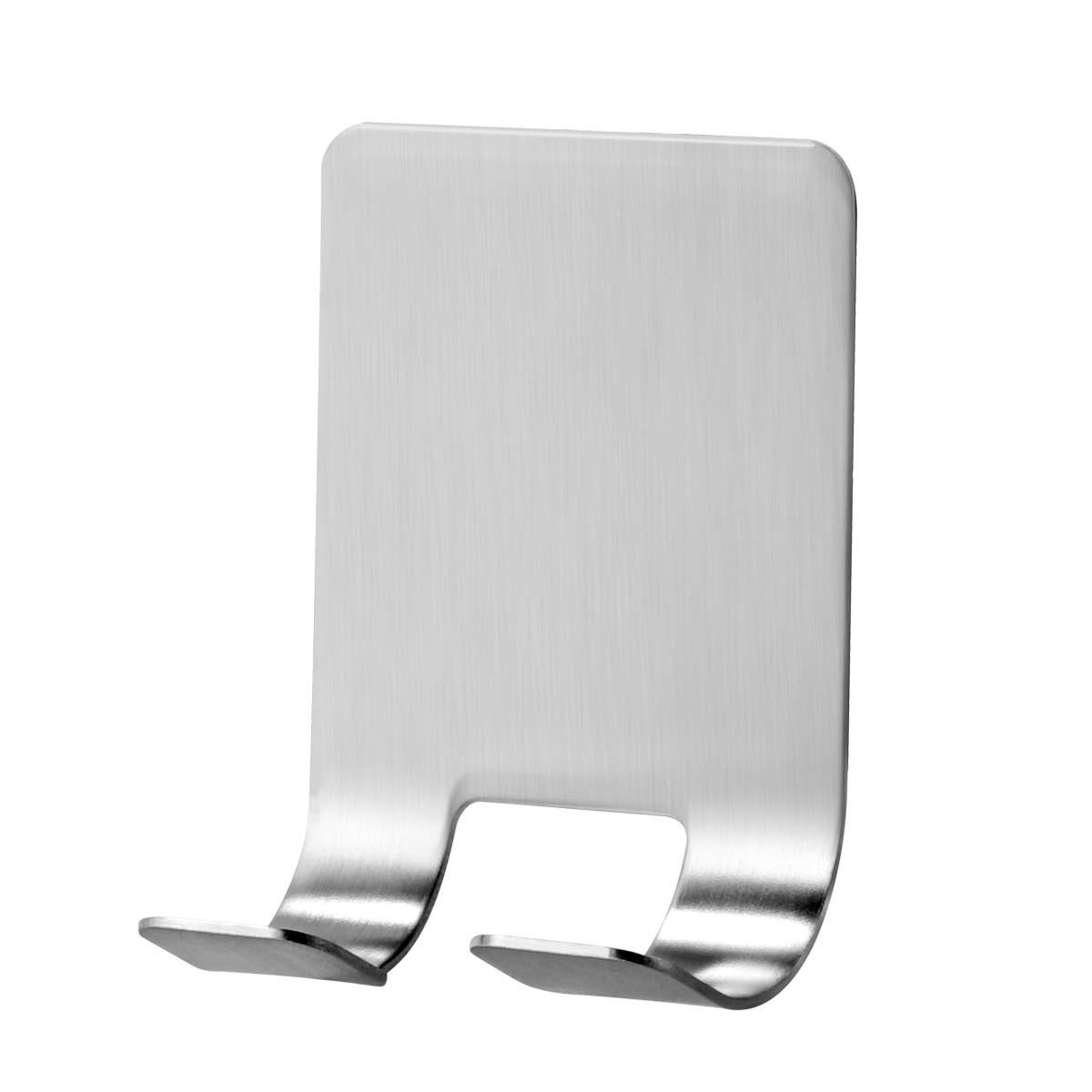 OUNONA Stainless Steel Self Adhesive Hooks Razor Holder for Shower Shaving Razor Hooks Waterproof Multi-Functional Wall Hooks