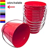 Italia 6-Pack Metal Bucket 1.5 Quart Color Red Size 5.6 X 6'