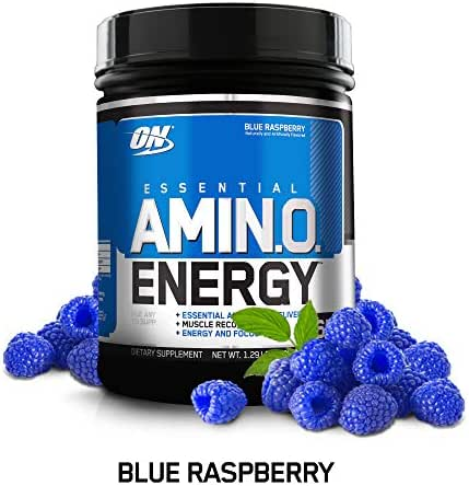 OPTIMUM NUTRITION ESSENTIAL AMINO ENERGY, White Peach Tea, Keto Friendly BCAAs, Preworkout and Essential Amino Acids with Green Tea and Green Coffee Extract, 65 Servings