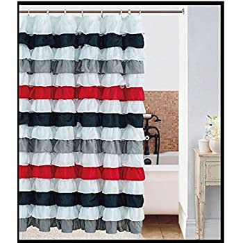 Creative Home Ideas Santa Border Christmas Shower Curtain 72 X 72