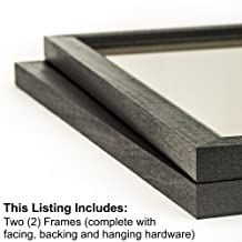 Craig Frames 7171610Bk 12 by 16-Inch Picture Frame 2-Piece Set, Solid Wood, 0.84-Inch Wide, Black