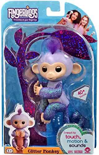 Fingerlings Glitter Monkey - KIKI - Purple Glitter