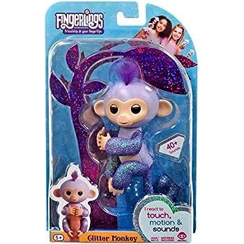 Amazon Com Fingerlings Baby Monkey Zoe Turquoise