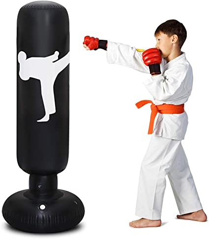 160cm Free Standing Inflatable Boxing Punch Bag Kick MMA Training Kids Adults US
