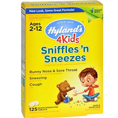 HYLANDS Sniffles N Sneezes Kid's, 125 CT