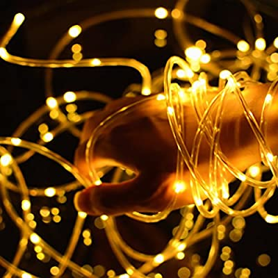 Solar String Lights, Outdoor Copper Wire Rope Lights, Waterproof Christmas Decoration String Lights for Patio, Garden, Homes, Holiday, Party, Indoor, Wedding