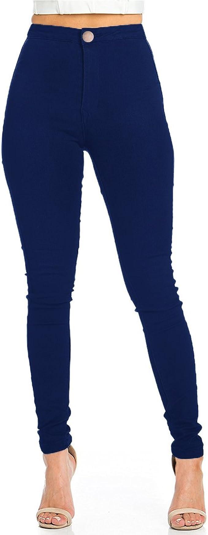 Femme Taille Haute Skinny Jeans Jegging Femme Slime Extensible Pantalon soft denim