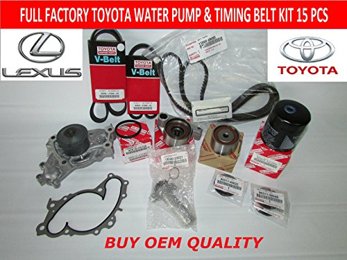 [Full Toyota Timing Belt Kit with OEM Aisin Water Pump for 1MZFE Engines] (Oem Full Kit)