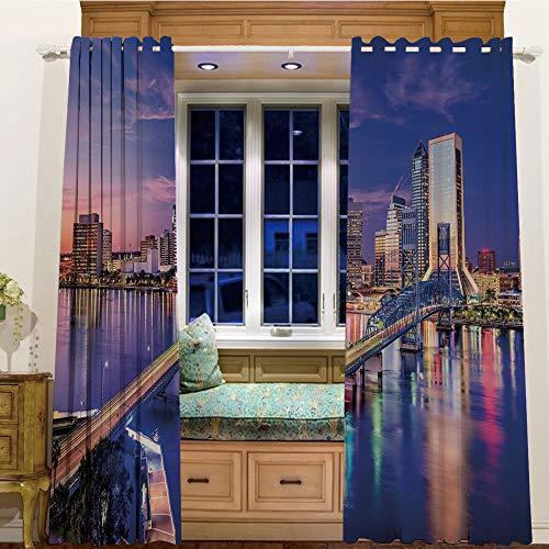 Room Darkening Thermal Blackout Grommet Window Curtain for Living Room,105