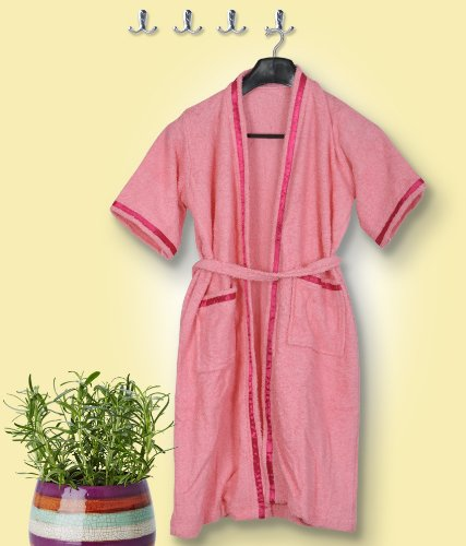 Skumars Love Touch - Solid - Adult Bath Robe - Pink