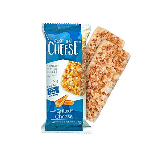 (Just the Cheese Bars, Crunchy Baked Low Carb Snack Bars. 100% Natural Cheese. High Protein and Gluten Free, Grilled Cheese (12 Two-Bar Packs))