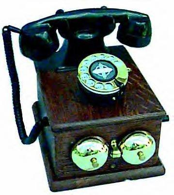 Country Junction Phone - Antique Wood Desktop Country Junction Phone