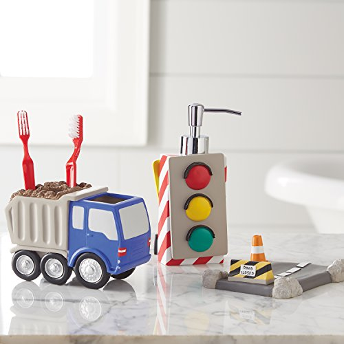 Dream Factory Trains and Trucks Bath Accessories Set, -