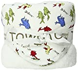 Trend Lab Dr. Seuss One Fish Two Fish Hooded Towel, Red/Blue