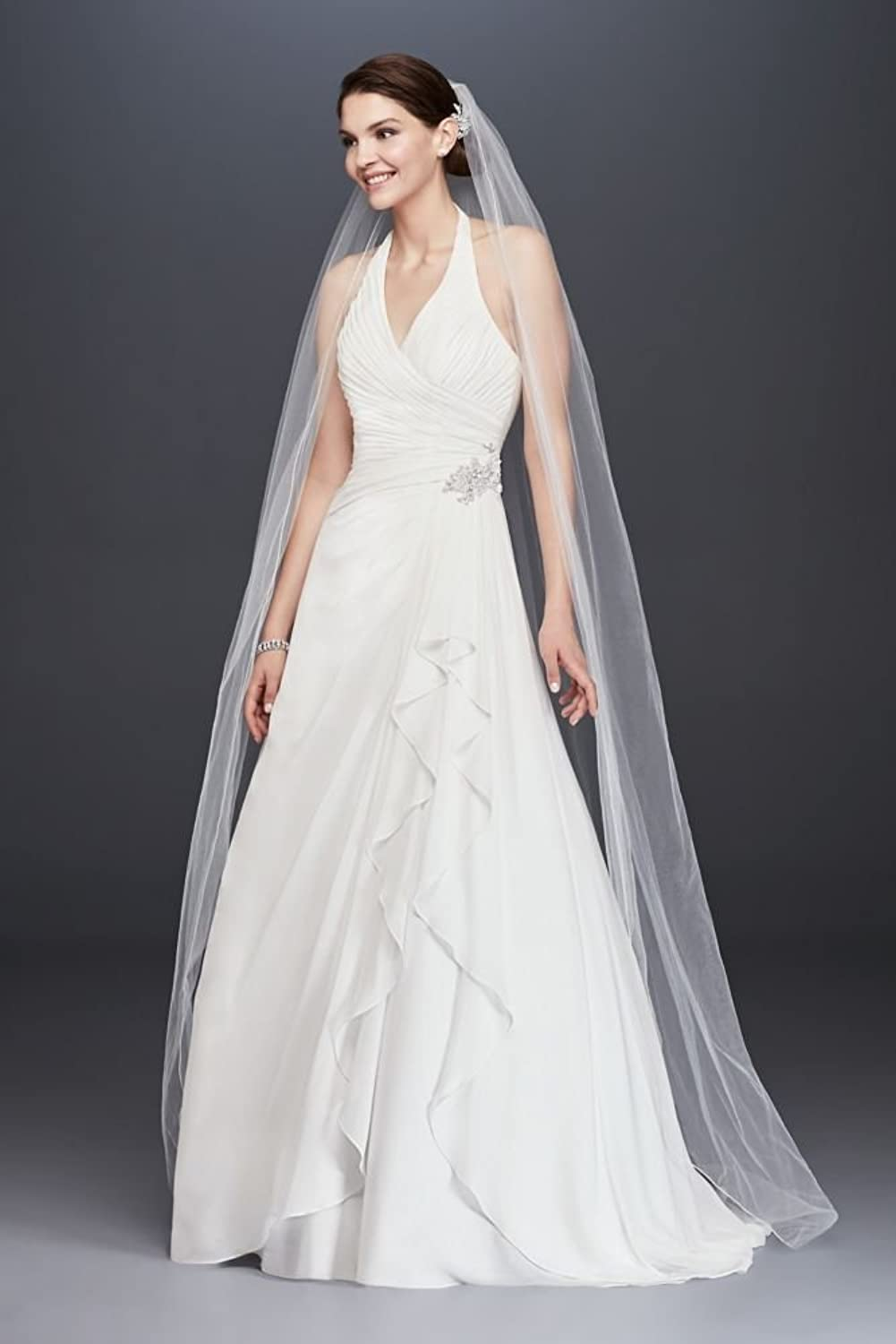 Sweetheart Trumpet Wedding Dress with Beaded Sash Style V3680 at ...