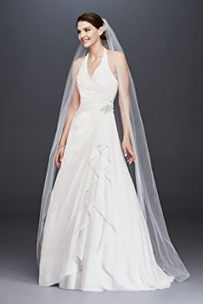 Pleated chiffon halter wedding dress with ruffle style op1324 pleated chiffon halter wedding dress with ruffle style op1324 soft white 6 junglespirit Image collections
