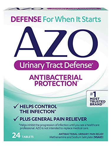 AZO Urinary Tract Defense Antibacterial Protection | Helps Control a UTI Until You Can See a Doctor | #1 Most Trusted Urinary Health Brand | 24 Tablets (Best Over The Counter Yeast Infection Test)