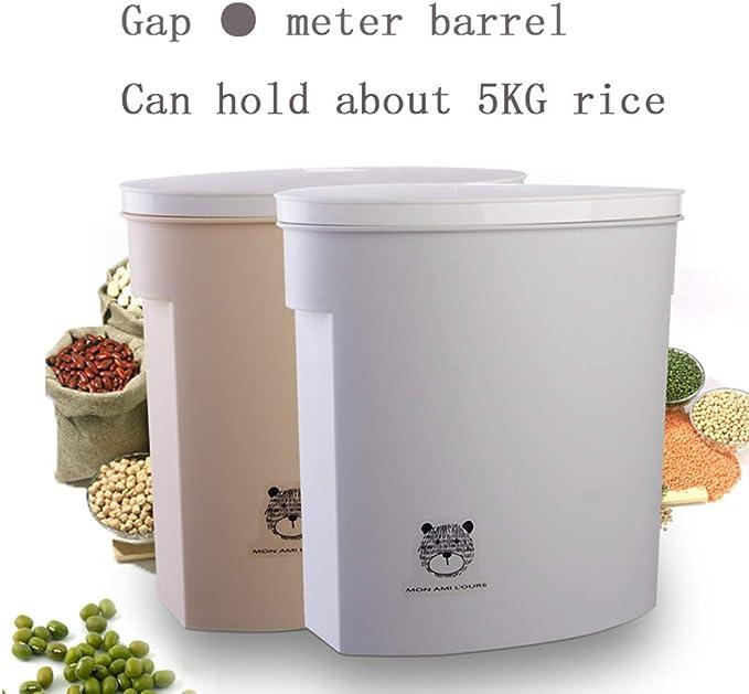 Bo/îTe De Rangement De Cuisine 5kg Bo/îTe De Stockage De Cuisine Gap /à L/éPreuve des Insectes R/éSistant /à LHumidit/é Deux Couleurs