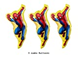 Jumbo Spiderman Party Balloons - 3 Pack