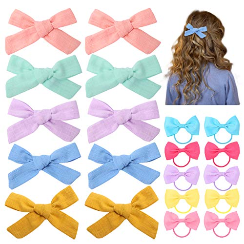 BigOtters Baby Girls Hair Bow Clips, 20PCS Hair Alligator Barrettes Mini Hair Bows Clips for Girls Toddlers Kids Children.