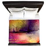 CafePress - Golden Tree - King Duvet Cover, Printed Comforter Cover, Unique Bedding, Microfiber