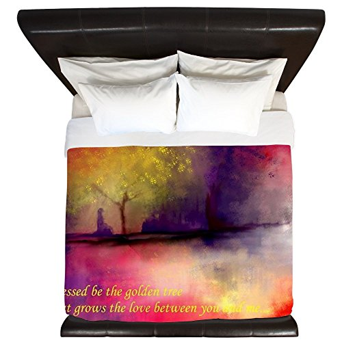 CafePress - Golden Tree - King Duvet Cover, Printed Comforter Cover, Unique Bedding, Microfiber by CafePress